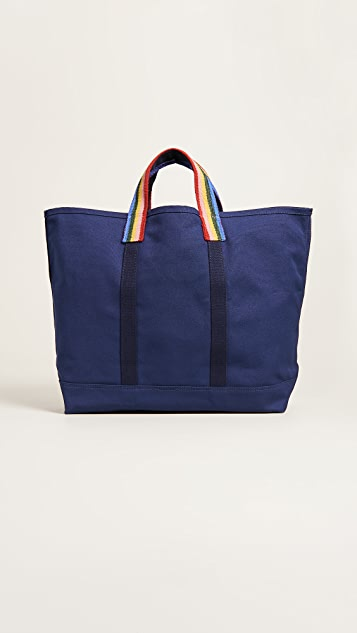 Loeffler Randall Canvas Weekender Tote Bag - Eclipse/Rainbow