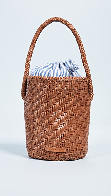 Loeffler Randall Cleo Woven Leather Bucket Bag