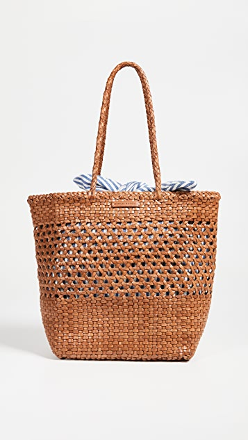 Loeffler Randall Maya Woven Leather Shopper Tote