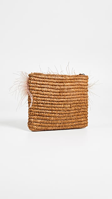Loeffler Randall Feather Tassel Pouch