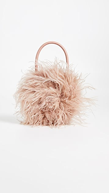 Zadiea Feather Circle Tote Bag by Loeffler Randall