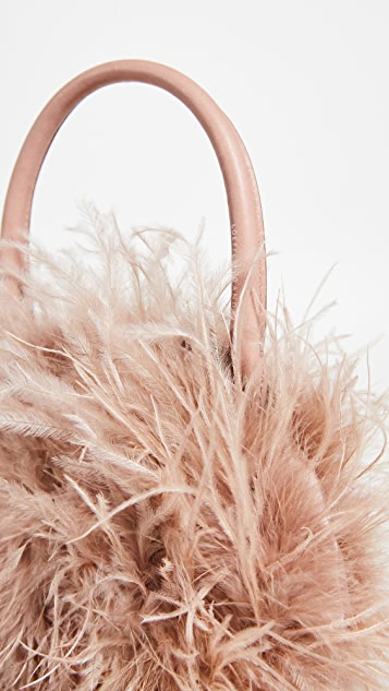 Loeffler Randall Zadiea Feather Circle Tote Bag