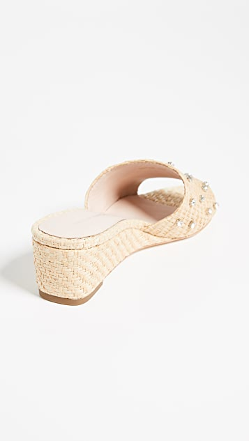 Loeffler Randall Tilly Wedge Slide Sandals