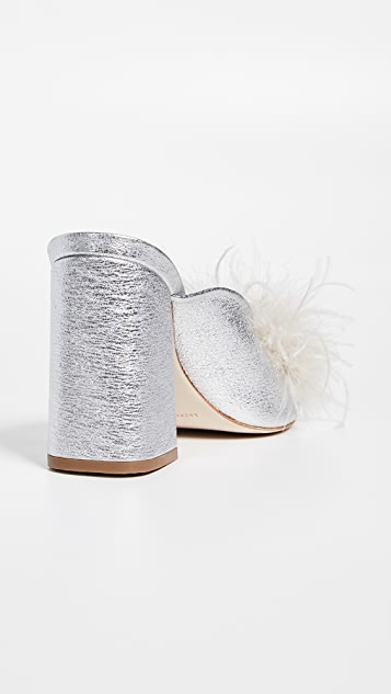 Loeffler Randall Laurel Twist Slides with Feathers