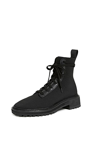 Loeffler Randall Brady Stretch Knit Combat Boots