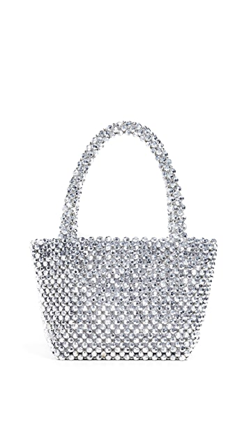 Loeffler Randall Объемная сумка с короткими ручками и бусинами Mina