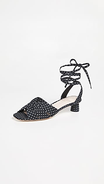 Loeffler Randall Leia Ankle Wrap Low Sandals