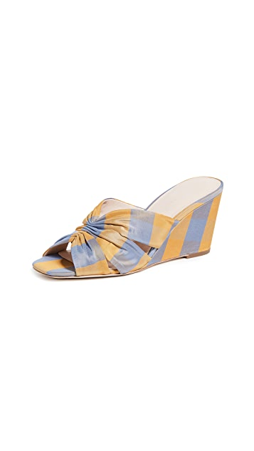 Loeffler Randall Sonya Cinched Wedge Sandals