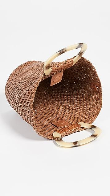 Loeffler Randall Объемная сумка с короткими ручками в виде веера из ткани