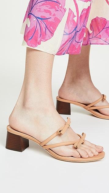 Loeffler Randall Джинсовые изящные туфли без задников с ремешком между пальцами