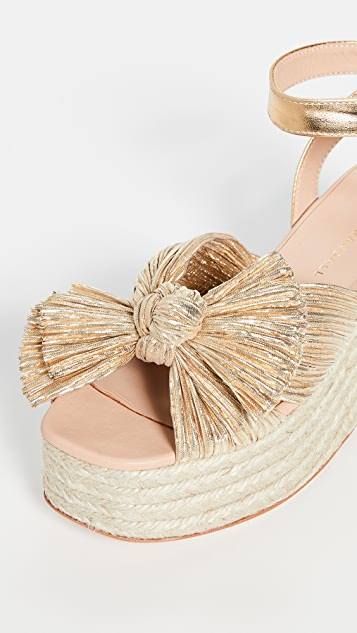 ced296f2a7e Posey Pleated Knot Flatform Esapdrilles