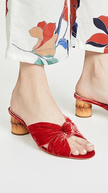 Loeffler Randall Celeste Mid Heel Knot Slides