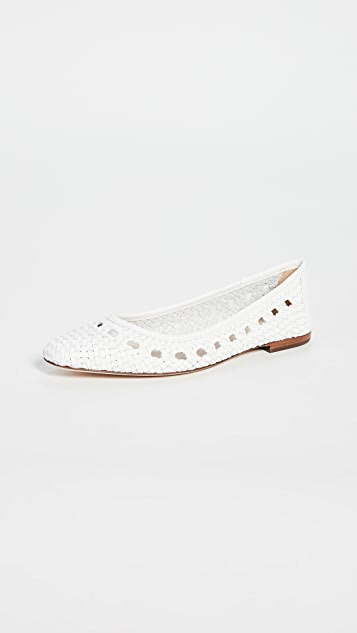 Loeffler Randall Плетеные кожаные балетки Maura