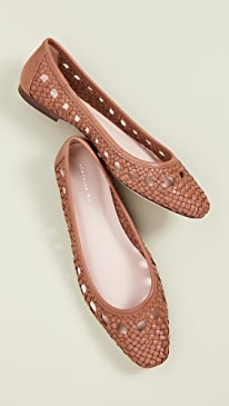 Maura Woven Leather Ballet Flats