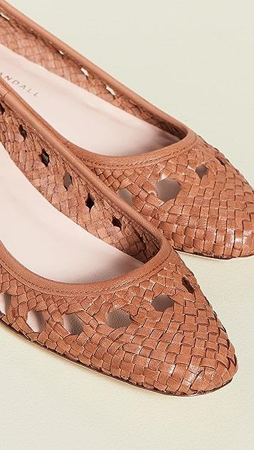 Loeffler Randall Maura Woven Leather Ballet Flats