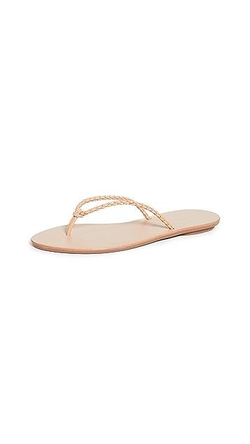 Loeffler Randall Kaia Braided Plank Flip Flops