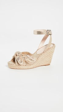 Tessa Bow Wedge Espadrilles