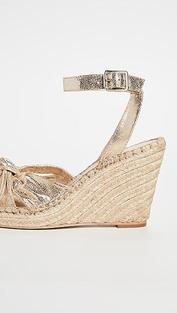 Loeffler Randall Tessa 蝴蝶结坡跟编织底便鞋