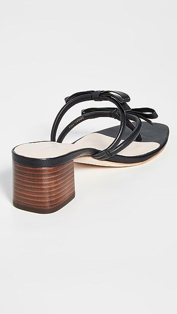 Loeffler Randall Jean 精致固定带夹趾穆勒鞋