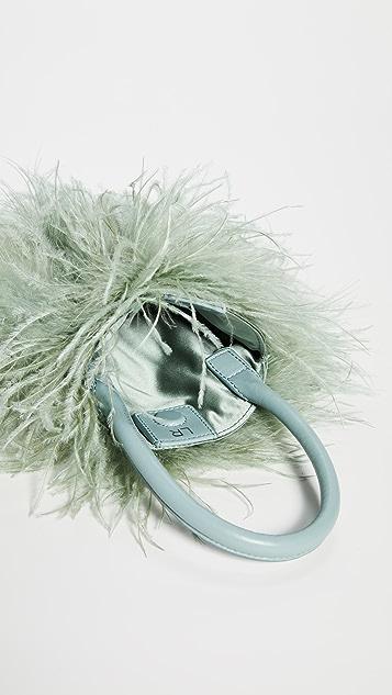 Loeffler Randall Zadie Feather Circle Tote Bag