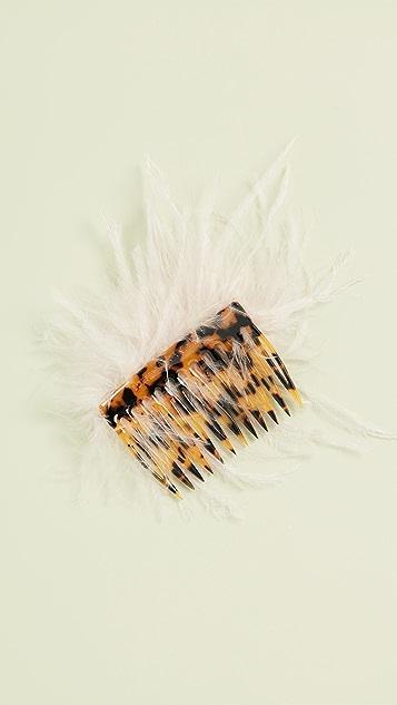 Loeffler Randall Гребень для волос с перьями
