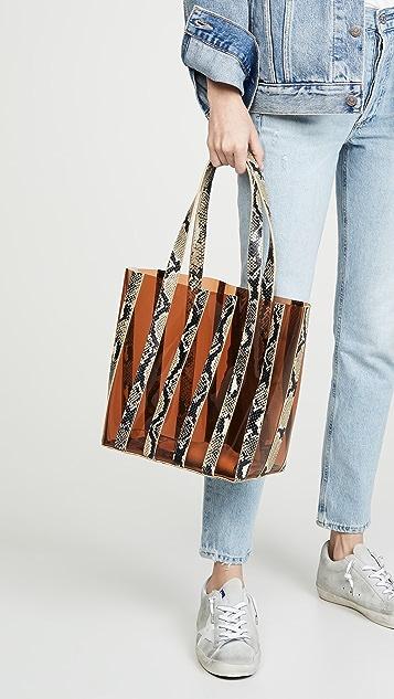 Loeffler Randall Объемная сумка с короткими ручками из вставок Marlena