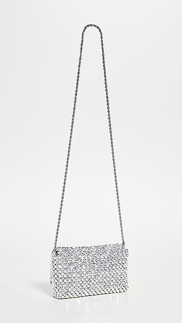 Loeffler Randall Миниатюрный клатч с бисером и ремешком в виде цепочки