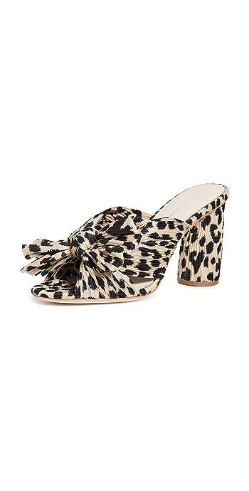Loeffler Randall Penny Knot Mules - Leopard