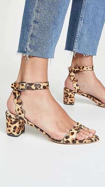 Loeffler Randall Emi 扇贝形粗跟凉鞋