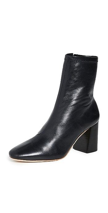 Loeffler Randall Elise Slim Ankle Booties - Black