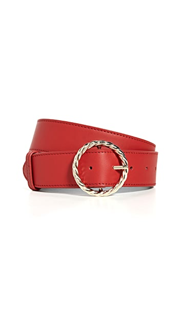 Loeffler Randall Leo Twisted Circle Buckle Belt