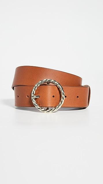 Loeffler Randall Leo Twisted Circle Buckle Belt