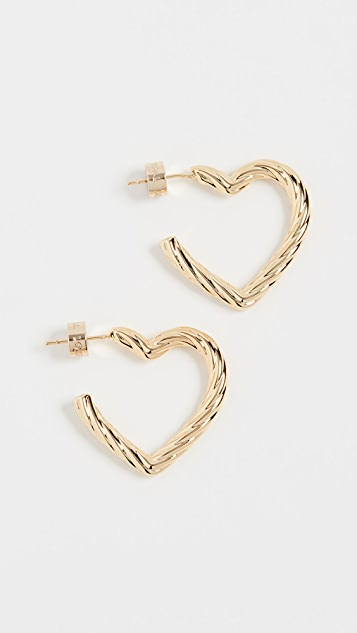 Loeffler Randall Billie Large Twisted Heart Earrings