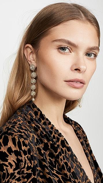 Loeffler Randall Belle Diamonte Drop Earrings