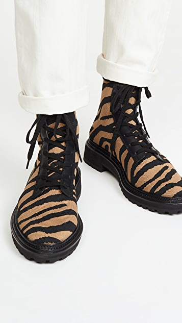 Loeffler Randall Армейские ботинки из эластичного трикотажа Brady