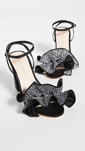 Loeffler Randall Savannah Ruffle Heel Sandals