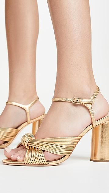 Loeffler Randall Сандалии Cece на высоких каблуках с узлом и ремешком на щиколотке