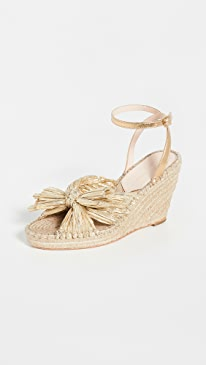 Charley Pleated Knot Espadrille Wedge
