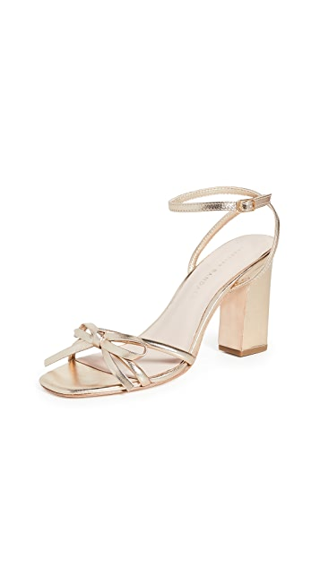 Loeffler Randall Maeve Knot Bow Ankle Strap Heel Sandals