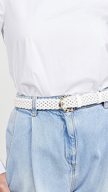 Loeffler Randall Josephine 抽象扭褶搭扣梭织腰带