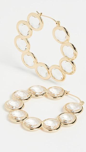 Loeffler Randall Серьги-кольца с кристаллами Violetta