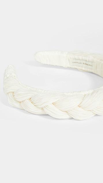 Loeffler Randall Lilac Pleated Braid Headband
