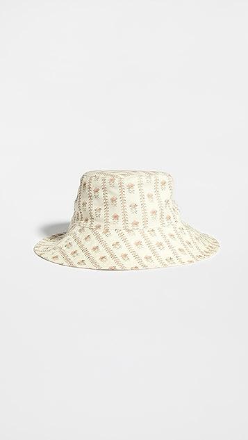 Loeffler Randall Hester 宽帽檐双面佩戴渔夫帽