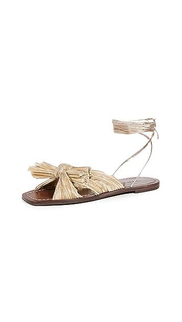 Loeffler Randall Peony Pleated Knot Wrap Sandals
