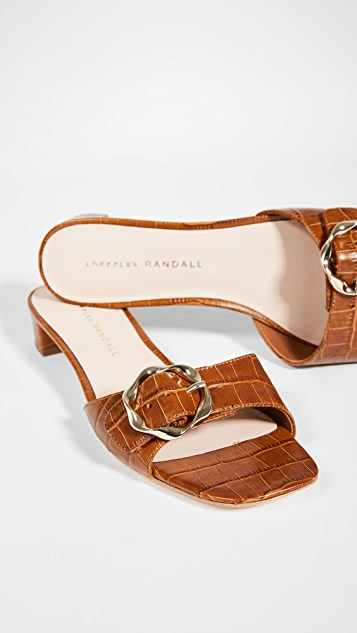 Loeffler Randall Edie Twisted Single Buckle Slides