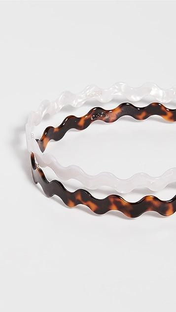 Loeffler Randall Rhona 波纹形树脂发带套装