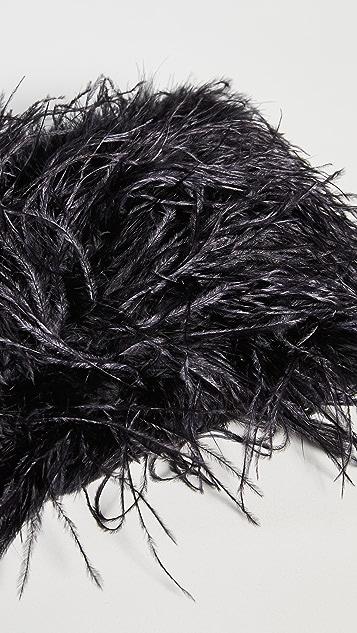 Loeffler Randall Zelda 羽毛长方形斜挎包