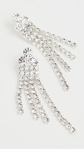 Loeffler Randall Diamante Fringe Earrings