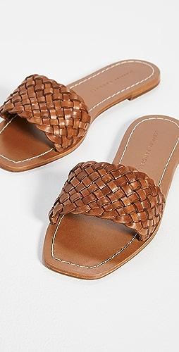 Loeffler Randall - Joey Woven Square Toe Slide Sandals