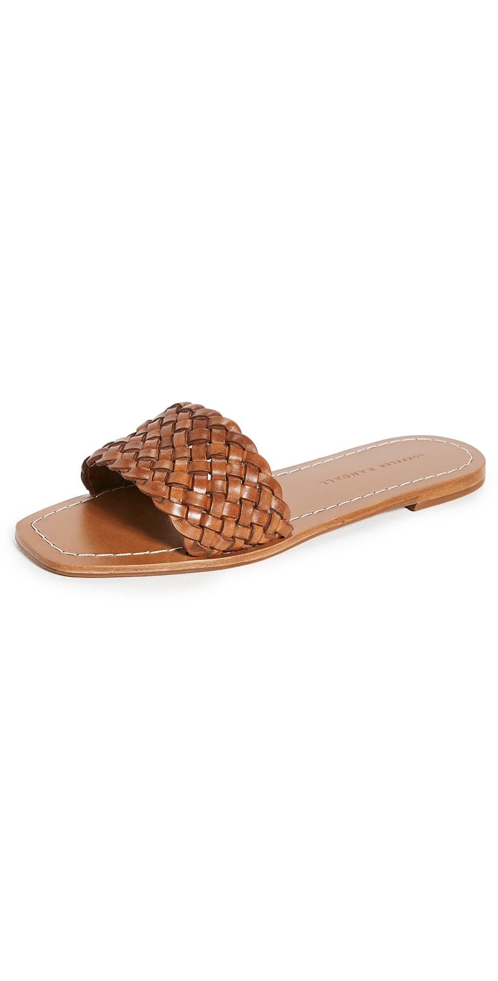 Loeffler Randall Joey Woven Square Toe Slide Sandals